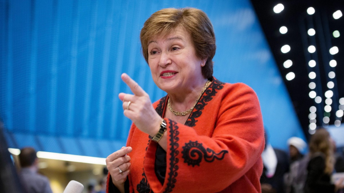IMF Chief Kristalina Georgieva in an Interview, economy
