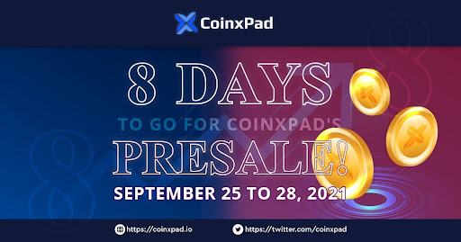 CoinxPad Presale to Kick off on September 25th
